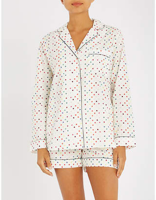 Yolke Polka dot cotton pyjama set