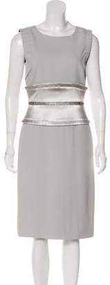Dolce & Gabbana Sleeveless Midi Dress Silver Sleeveless Midi Dress