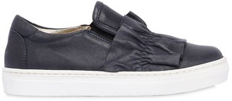 MonnaLisa Nappa Leather Slip-On Sneakers