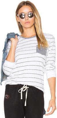 Sundry Stripes Slub Tee with Pocket