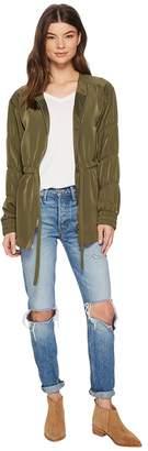 Kensie Sandwashed Micro Fabric Jacket KS3K2284 Women's Coat