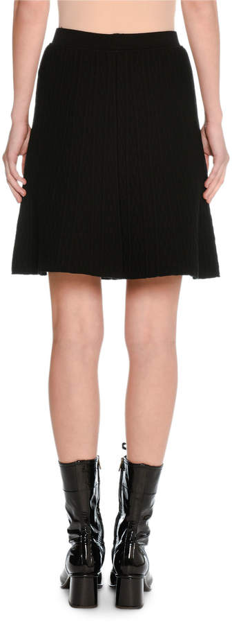 Tomas Maier Quilted A-Line Short Skirt
