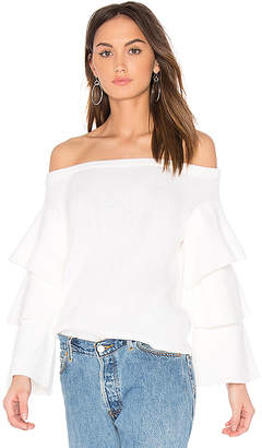 9d513870e7 Off the Shoulder Sweater Top in White. from shopstyle