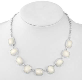 Liz Claiborne Womens White Square Collar Necklace