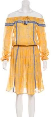 Lemlem Knee-Length Long Sleeve Shoulder Dress