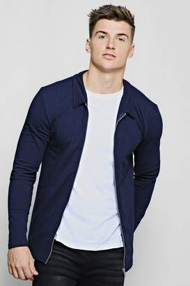 boohoo Muscle Fit Jersey Harrington