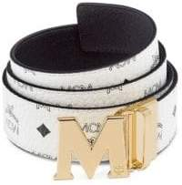 MCM Men's Claus Reversible Belt - White