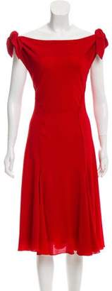 Zac Posen Tie-Accented Crepe Dress w/ Tags