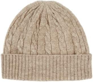Harrods Cable Knit Cashmere Hat