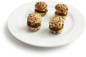 Appetizer USA Mini Burgers with American Cheese and Pickle
