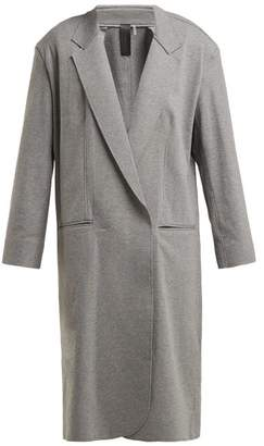 Norma Kamali Oversized Stretch Cotton Coat - Womens - Grey