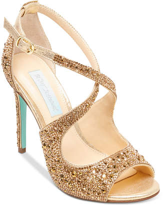 Betsey Johnson Blue By Sage Evening Sandals Women's Shoes