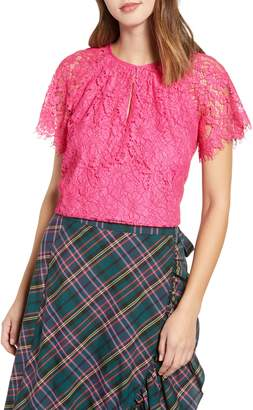 J.Crew Short Sleeve Lace Top