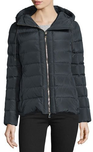 Moncler Moncler Idrial Hooded Short Puffer Jacket, Charcoal