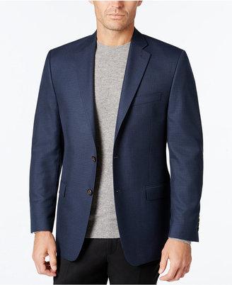 Lauren Ralph Lauren Men's Classic-Fit Blue Mini Check Sport Coat $295 thestylecure.com