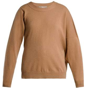 Stella McCartney Asymmetric Wool Blend Sweater - Womens - Camel