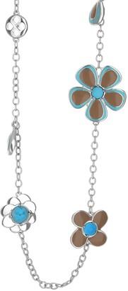 Ralph Lauren G. Adams G Adams Colored Enamel Flower Station Necklace