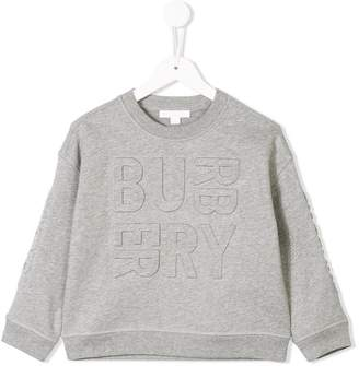 Burberry debossed logo sweatshirt