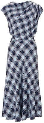 Baukjen Harper Dress In Blue & Orchre Check