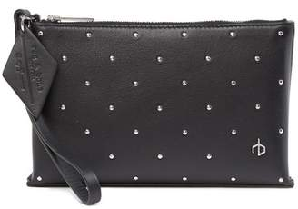 Rag & Bone Studded Leather Wristlet Pouch
