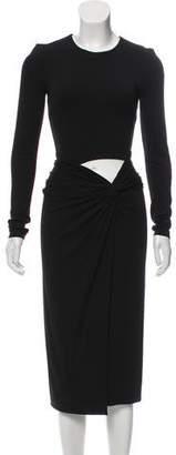 Michael Kors Long Sleeve Midi Dress
