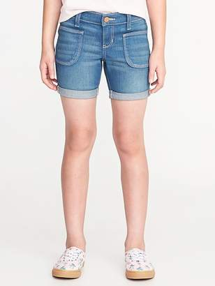 Old Navy Utility Pocket Denim Midi Shorts for Girls