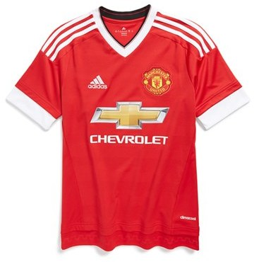 adidas 'Manchester United' CLIMACOOL ® Home Soccer Jersey (Little Boys & Big Boys)