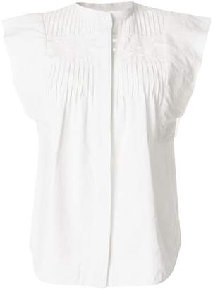 Chloé cutout-detail pintucked shirt