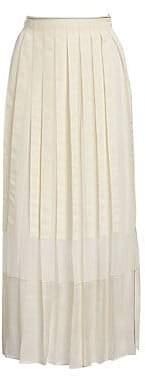 3.1 Phillip Lim Women's Grosgrain Pleated Midi Skirt