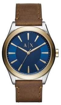 Armani Exchange Dress Nico Analog Strap Watch