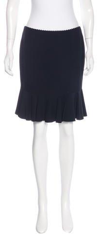 Alexander McQueenAlexander McQueen Flounced Knee-Length Skirt