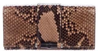 Gucci Snakeskin Bamboo Wallet