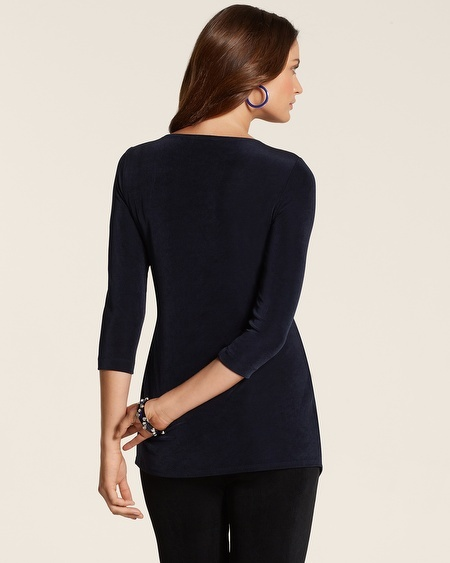 Chico's Travelers Classic Asymmetrical Top