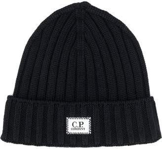 C.P. Company cable knit beanie