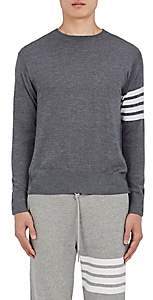Thom Browne Men's Block-Striped Wool Sweater - Gray