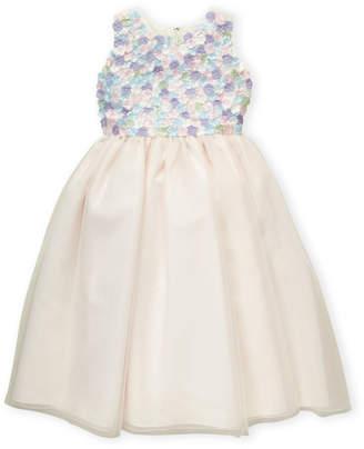 Joan Calabrese For Mon Cheri (Girls 7-16) Flower Petal Applique Dress