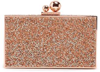 Sophia Webster Clara glitter crystal-embellished box clutch