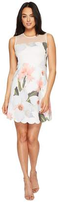 Ted Baker Caprila Chatsworth Bloom Scallop Tunic Women's Dress