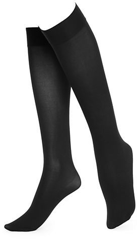 HUE PLUS Soft Opaque Knee High Socks