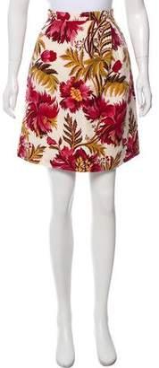 Peter Som Floral Knee-Length Skirt