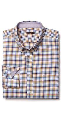 J.Mclaughlin Carnegie Regular Fit Flannel Shirt in Tattersall Check