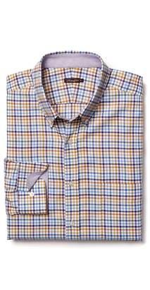 J.Mclaughlin Carnegie Regular Fit Flannel Shirt in Tattersall Check