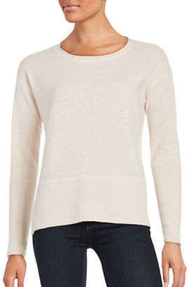 Lord & Taylor Boxy Crewneck Cashmere Sweater $119.99 thestylecure.com