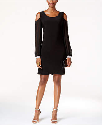 Msk Embellished Cold-Shoulder Cocktail Dress $89 thestylecure.com