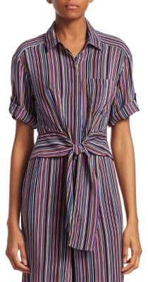 Nanette Lepore Sassy Striped Silk Top