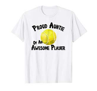Tennis T-Shirt Proud Auntie of an Awesome Player Tee Tshirt