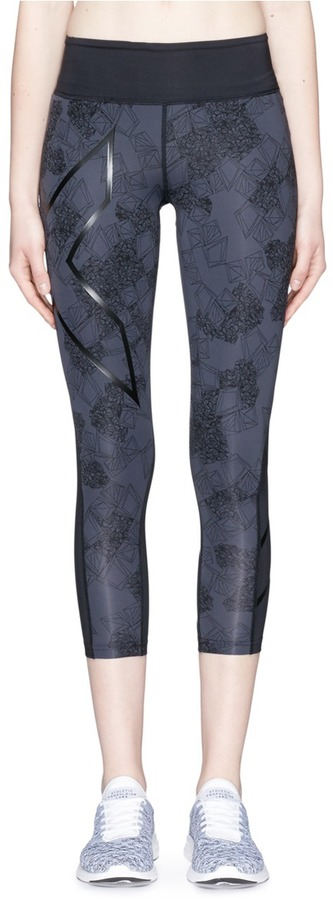 2XU 2Xu 'Pattern' compression 7/8 performance leggings