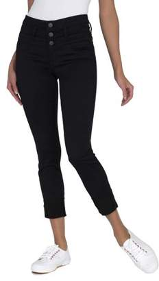 No Boundaries Juniors' Triple Stack Ankle Wide Cuff Jeans