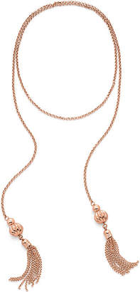 Folli Follie Style Fairy double tassel rose gold-plated necklace