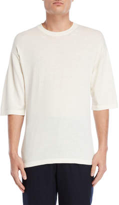 Roberto Collina Knit Elbow Sleeve Tee